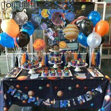 Outer Space Galaxy Party Decor Disposable Tableware Set Solar Planet Party