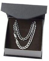 Herren-Halskette-Kette-Anhanger-Silber-925-Schmuck-Silberkette-Panzerkette
