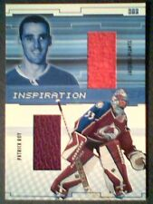 JACQUES PLANTE / PATRICK ROY  AUTHENTIC PIECES OF DUAL GAME-USED JERSEYS/40