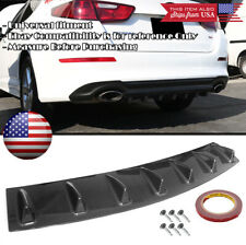 "33"" x 6"" Carbon Rear Bumper Valance Diffuser 7 Shark Fins For Ford Chevy Dodge"