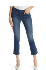 NWT 3x1 NYC Split Crop Bell Jeans sz 24 Women Denim Stretch Mica Boot Cut