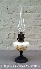 B2017561 - Lampe à pétrole ancienne en faïence et cuivre pour déco