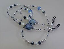 Spectacle/Glasses/Eyewear Beaded Chain  - Sapphire Teardrop