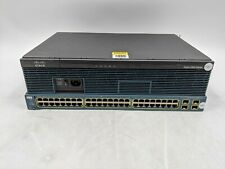 Lot of 2 Fair Cisco WS-C3560G-48TS-S 48 Port Switch And 2911/K9 Router -AJ0183