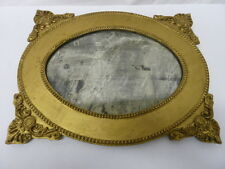 VINTAGE VICTORIAN STYLE GOLD TONE FRAMED MIRROR
