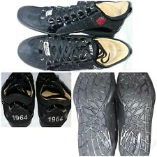 D SQUARED MENS TRAINERS 41 UK 7.5  1964 GET IN THE FAST LANE BLACK SUEDE LEATHER