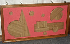 "Authentic Mid Century Danish Modern Abstract Wall Art (51''x 27''x1"")"