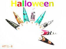 80 Airbrush Stiletto Nail Tips Halloween Tips Totenkopf Fledermaus KP-1261