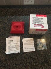*Brand New* Wheelock Fire Alarm Horn Model NH-12/24-R Red