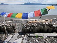"""XL BEST QUALITY 100% COTTON 2 ROLLS  20FT 11X13"""" TIBETAN BUDDHIST PRAYER FLAGS"""