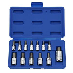 Alan Allen Alen Hex Key Socket Rachet Wrench Set Metric 1/4 3/8 1/2 Drive 13Pc