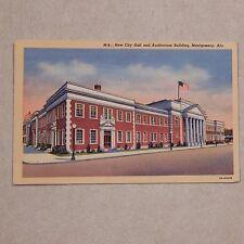 Vintage Postcard New City Hall And Auditorium Building, Montgomery, Ala.