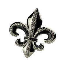 Single | Buckle Rage | Belt Buckle | Fleur de Lis with Clear Rhinestones