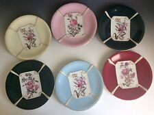 6pc Antique T&V Tressemanes Vogt Limoges Hand Painted Embossed Porcelain Plates