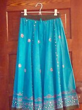 Turquoise Skirt Sequins