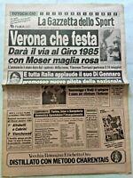 GAZZETTA DELLO SPORT 10-12-1984 VERONA GIRO D'ITALIA RUMMENIGGE BRADY DI GENNARO