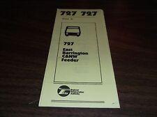 MARCH 1981 CHICAGO RTA ROUTE 727 EAST BARRINGTON BUS SCHEDULE
