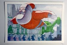 Hallmark Christmas Card Santa Claus Parade Balloon Float Vintage Collectible