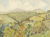A.M. Johnson - A Pair of Mid 20th Century Watercolours, Panoramic Landscapes