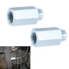 2X Stainless Steel O2 Oxygen Sensor Extender Adapter Extenion Spacer M18 Silver