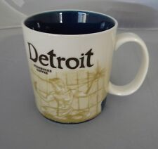2012 Starbucks DETROIT Global Icon City Coffee Mug Cup NEW 16oz