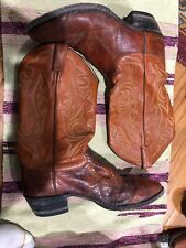 RARE VINTAGE Justin Cap Toe Exotic Brown Lizzard Skin Boots 9.5 D Western Cowboy