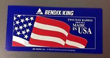 BK BENDIX KING TWO WAY RADIOS Window Decal, Vintage