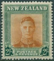 New Zealand 1947 SG688 2/- brown-orange and green KGVI MLH