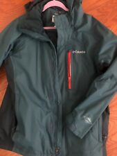 Comfy green blue men's Columbia Interchangeable omni-tech  ski jacket large