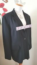Nygard Collection womens Size 12 Black blazer jacket Suit evening career 1398