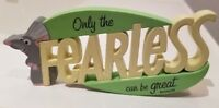 DISNEY PIXAR RATATOUILLE ONLY THE FEARLESS CAN BE GREAT HALLMARK CUTOUT PLAQUE