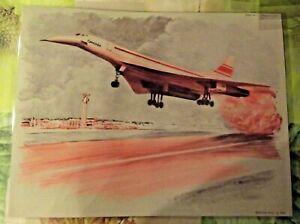 Set de table affiche Poster 40 x 30 Avion Vol du Concorde Période 1970
