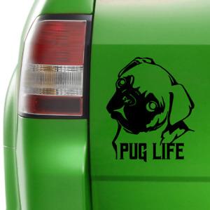 Pug Life Sticker Dog Vinyl Car Decal 160mm x 135mm