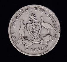 1923 Florin Australia Sterling Silver  C-69