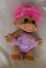 Russ Troll Doll 9� Ballerina Vintage Pink Hair