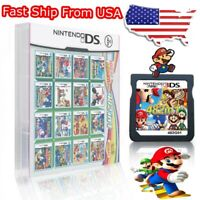 USA 482 in1 Video Game Card Super Mario For Nintendo DS NDSL NDSI 2DS 3DS Fast