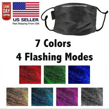 Led Face Mask Usb Rechargeable 7 Color Fiber Optic Glowing Led Light Up Us Ship