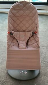 Babybjorn Organic Bouncer Bliss Chair  Rose Pino Quilted EUC