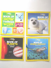 NATIONAL GEOGRAPHIC KIDS 4 Colorful Books (Animals,Planets,How Things Work) NEW!