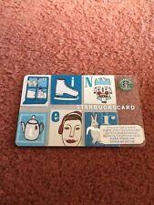 Starbucks Card Blue Winter 2008 Unused Rare NO Credit included
