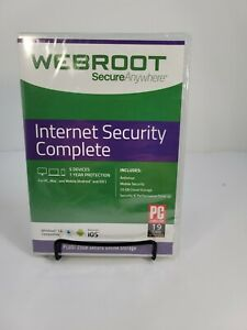 Webroot Internet Security Complete 2021 - 5 Devices - 1 Year