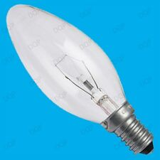 6x 25W CLEAR CANDLE DIMMABLE TUNGSTEN FILAMENT LIGHT BULBS; SES SCREW, E14 LAMPS