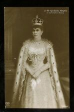Royalty HM QUEEN MARY in Coronation Robes RP PPC