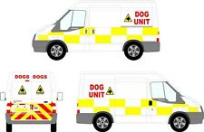 Reflective Security / Dog unit chevron/chequer  Ford Transit SWB kit Graphic