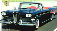 1958 Ford EDSEL CITATION SPEC SHEET / Brochure / Catalog
