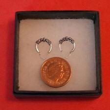Nice Silver Earrings With Loops 0.5 Grams  1.1 Cm.Wide