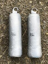 PAIR OF LONGCASE GRANDFATHER CLOCK 12LB CAST IRON WEIGHTS NEW REPRO MADE IN UK