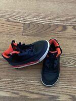 Toddler Nike Air Jordan Sneakers Retro Black/Crimson/Purple 832033-005 Sz 9C