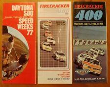 3 VINTAGE 1977-83 AUTO RACING BROCHURES DAYTONA 500 FIRECRACKER 400 NASCAR
