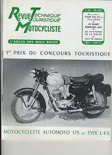 (12A)REVUE TECHNIQUE MOTOCYCLISTE 125cc PULLMAN / Volants magnétiques NOVI